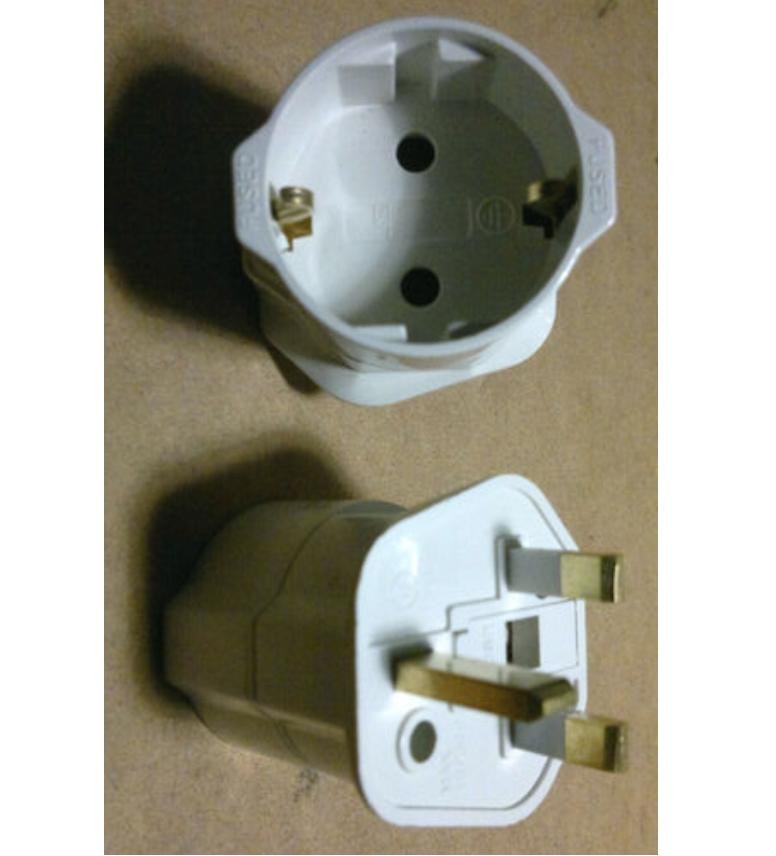 adapter von stecker f r reisen uk mit sicherung englisch england spanien ebay. Black Bedroom Furniture Sets. Home Design Ideas