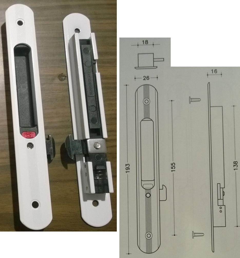 Cierres para ventanas de aluminio correderas sharemedoc - Cerrojos para puertas de aluminio ...