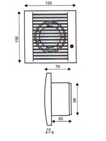 Extractor para aseo y ba o de 100 mm de salida silencioso for Extractor bano 80 mm
