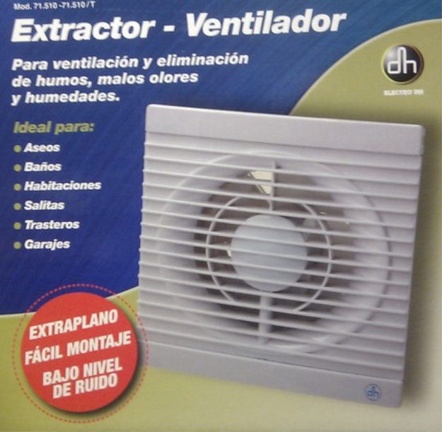 Extractor De Baño Manual:Detalles de EXTRACTOR VENTILADOR DE 155mm EXTRA PLANO,SILENCIO SO,PARA